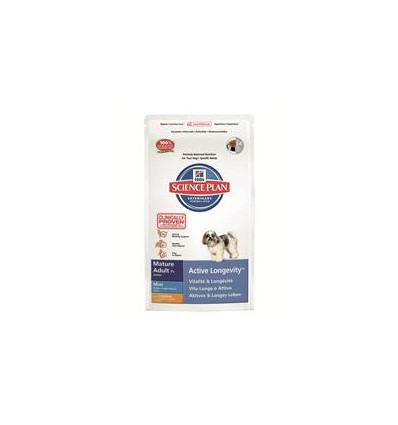 Hill's Science Plan Canine Mature 7+ Mini med kylling 3 kg.