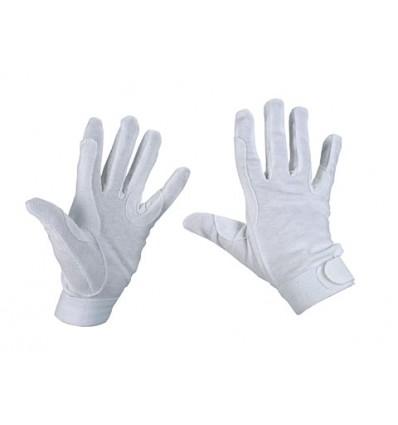 Bomuldhandske Jersey Hvid XL