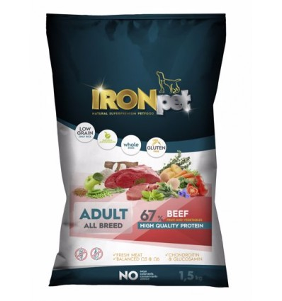 IRONpet Beef adult all breed 1,5 kg.
