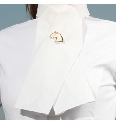 CATAGO Plastron- bomuld hvid str. M