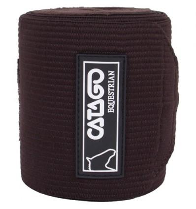 CATAGO Elastikbandager med fleece 4 stk. Brun 3,25 m.