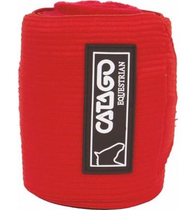 CATAGO Elastikbandager med fleece 4 stk. Rød 3,25 m.