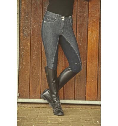 HKM ridebuks -MISS BLINK- 1/1 Alos skind Jeansblå/Mørkeblå 170