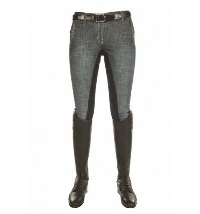 HKM Jeans-Ridebuks -ELEGANCE- 3/4 alos skind Mørkeblå Str. 38