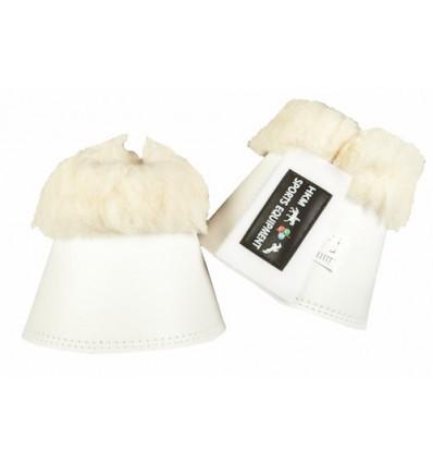HKM Neoprenklokker -SOFT-med læderimitat Hvid Large