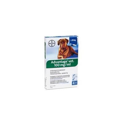 Advantage Vet. Loppemiddel til hund over 25kg 4x4 ml.