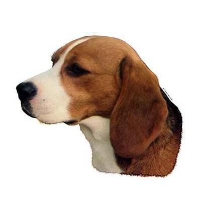 Dekal Beagle Lille ca. 8 cm.