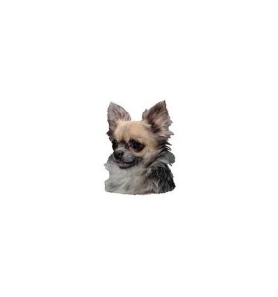 Dekal Chihuahua Langhåret Lille ca. 8 cm.