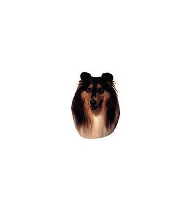 Dekal Collie Sort Masket Lille ca. 8 cm.