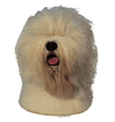 Dekal Old English Sheepdog Langhåret Lille ca. 8 cm.