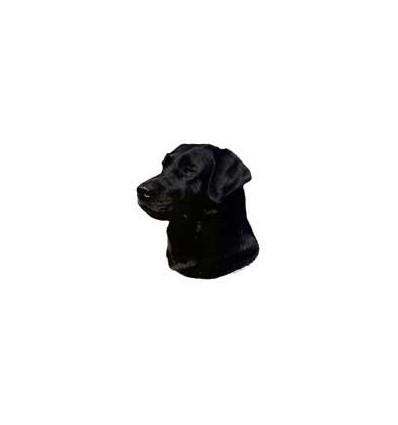 Dekal Labrador Retriever Sort Stor ca. 17 cm.