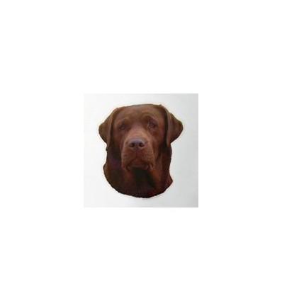 Dekal Labrador Retriever Brun Stor ca. 17 cm.