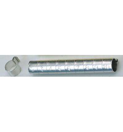 Aluminium ringe 10 mm. 10 stk.