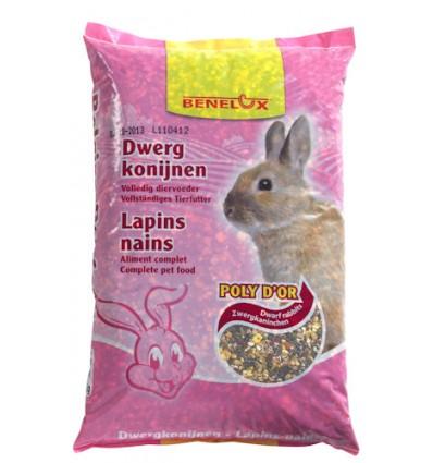 Benelux Dværgkanin blanding 20 kg.