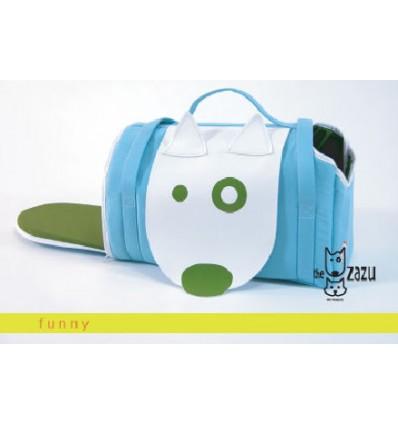 Zazu Funny transporttaske lyseblå