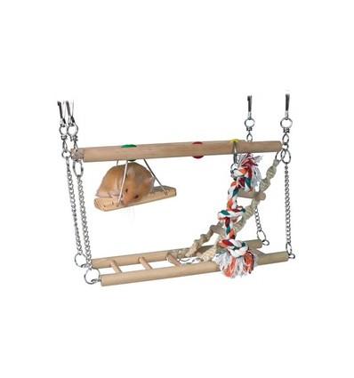 Hængebro dobbelt til hamster og mus.